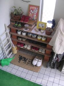 「一人暮らしの物件で靴箱がない。