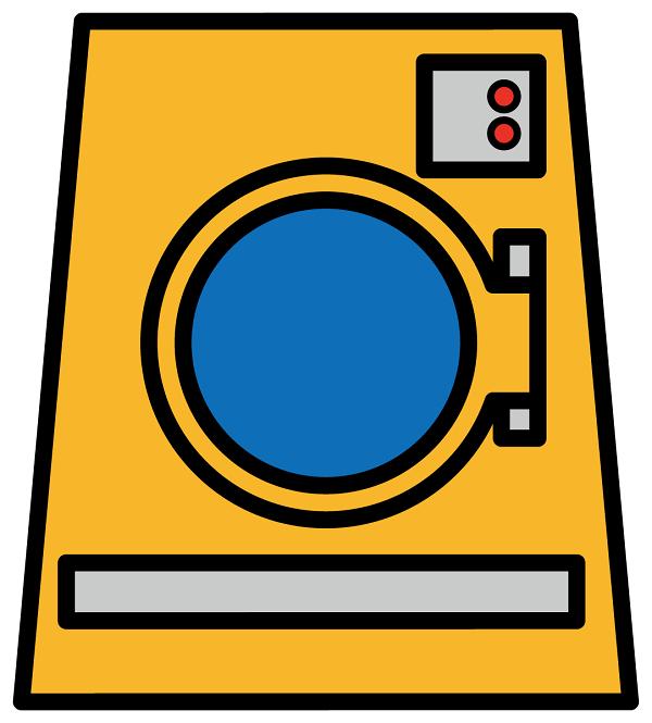 大型の洗濯乾燥機