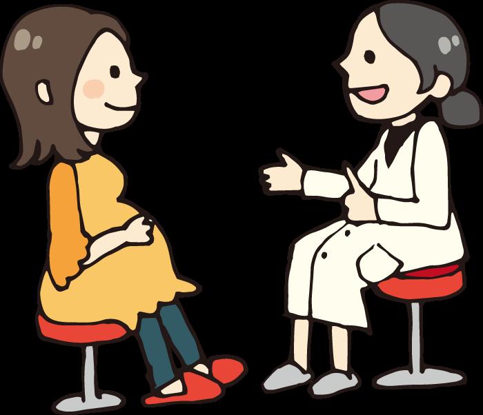 妊婦と女医