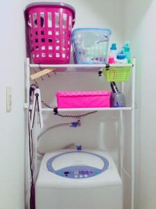洗濯機の上の収納