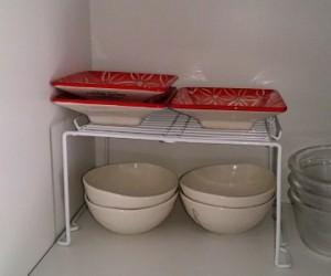 コの字ラックで食器収納