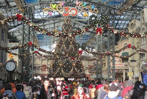 ディズニーのクリスマスツリー