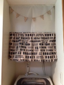 洗濯機上の収納