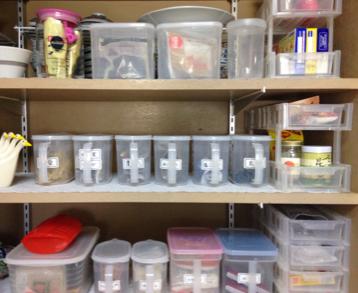 密封容器で食品収納