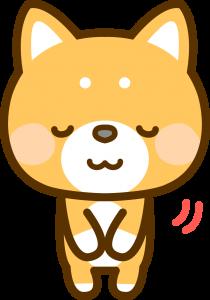 おじぎする犬