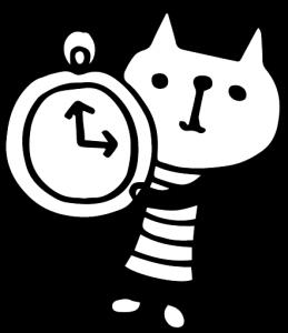 時計を持つ猫