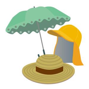 日傘 帽子