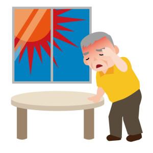 太陽光 熱 老人