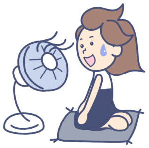 暑い 扇風機