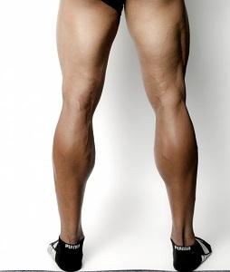 筋肉質な脚
