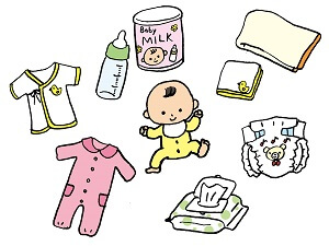 赤ちゃんと生活用品