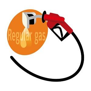 溢れるガソリン