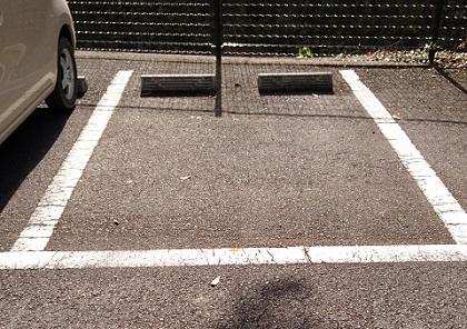 ワイワイパークの駐車場