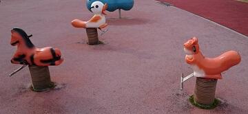 がめさん公園のスプリング遊具