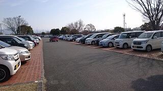 江津湖公園の駐車場