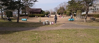 江津湖公園の遊具エリア