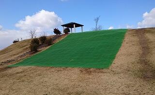 鏡ヶ池公園の草スキー場