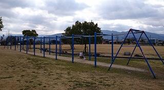 鏡ヶ池公園のターザンロープ
