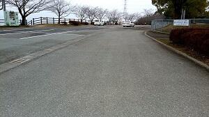 岡岳公園の駐車場