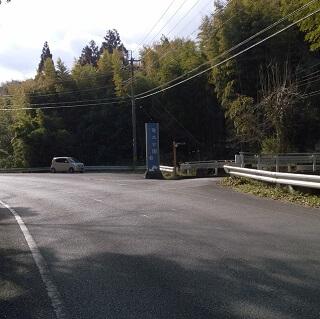 竜北公園の駐車場までの道