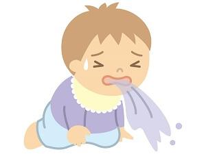 吐く赤ちゃん